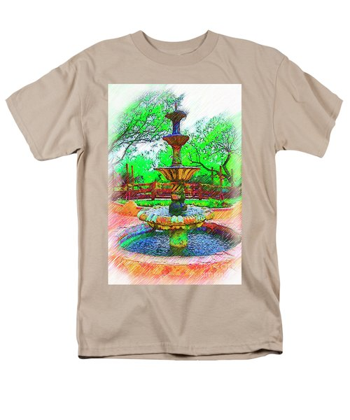 The Spanish Courtyard Fountain Men's T-Shirt  (Regular Fit) by Kirt Tisdale