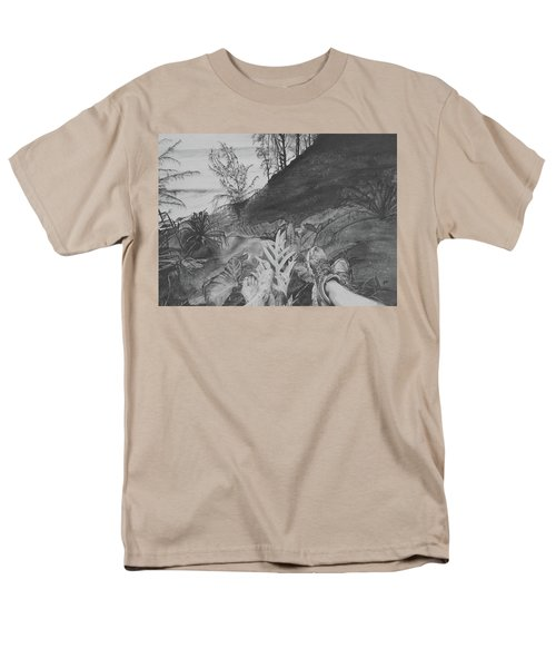 Men's T-Shirt  (Regular Fit) featuring the drawing The Summit by Jane Autry