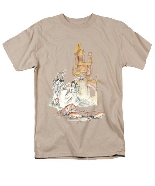 The Swineherd - Princess Giving 100 Kisses For Toys - Illustration For Classic Fairy Tale Men's T-Shirt  (Regular Fit) by Elena Abdulaeva