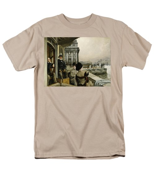 The Terrace Of The Trafalgar Tavern Greenwich Men's T-Shirt  (Regular Fit) by James Jacques Joseph Tissot