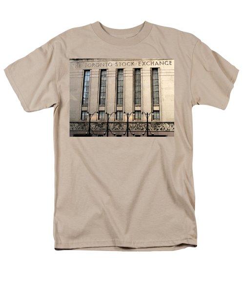 The Toronto Stock Exchange Men's T-Shirt  (Regular Fit) by Ian  MacDonald
