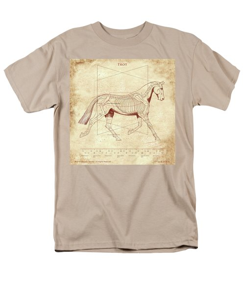 The Trot - The Horse's Trot Revealed Men's T-Shirt  (Regular Fit) by Catherine Twomey