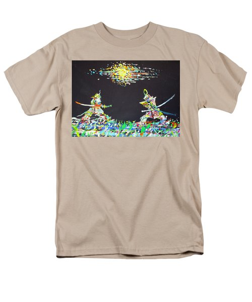 Men's T-Shirt  (Regular Fit) featuring the painting The Two Samurais by Fabrizio Cassetta