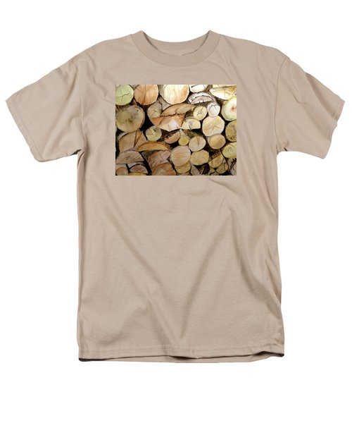 The Woodpile Men's T-Shirt  (Regular Fit) by Carol Grimes