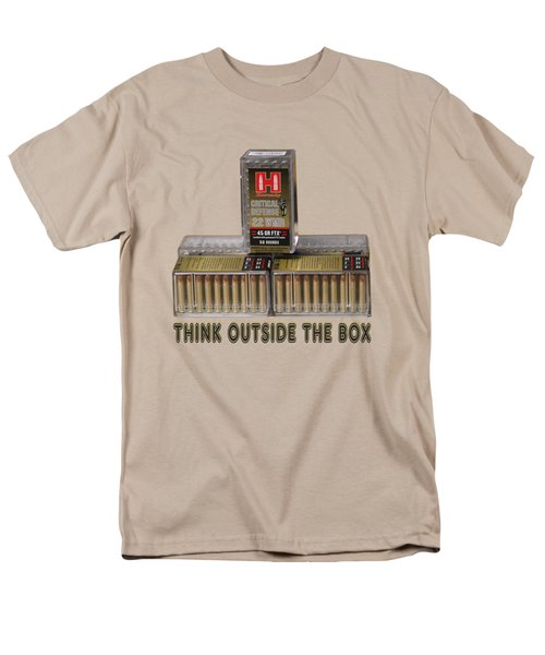 Think Outside The Box Men's T-Shirt  (Regular Fit) by EricaMaxine  Price
