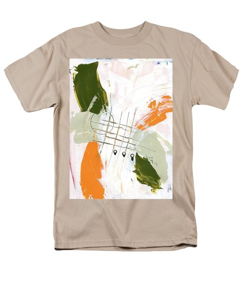 Men's T-Shirt  (Regular Fit) featuring the painting Three Color Palette Orange 3 by Michal Mitak Mahgerefteh