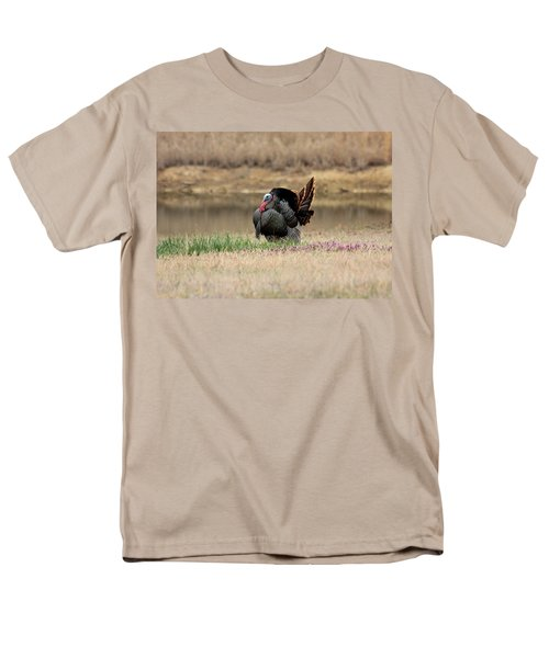 Tom Turkey At Pond Men's T-Shirt  (Regular Fit) by Sheila Brown