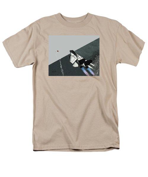 Men's T-Shirt  (Regular Fit) featuring the digital art Tomcat Kill by Walter Chamberlain