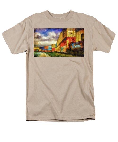 Train Freight Cars Men's T-Shirt  (Regular Fit) by Joseph Hollingsworth