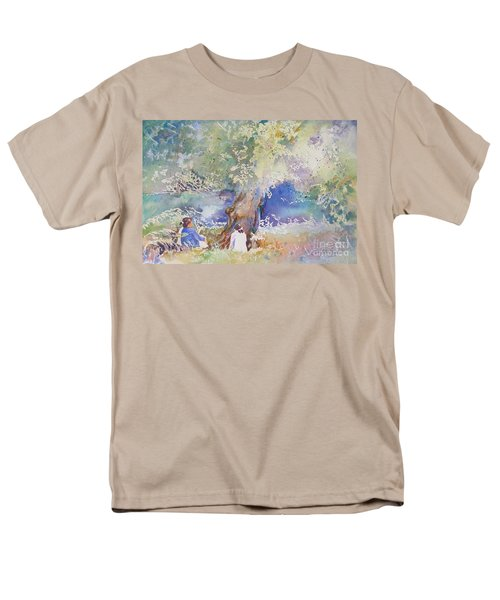 Tranquility At The Brandywine River Men's T-Shirt  (Regular Fit) by Mary Haley-Rocks