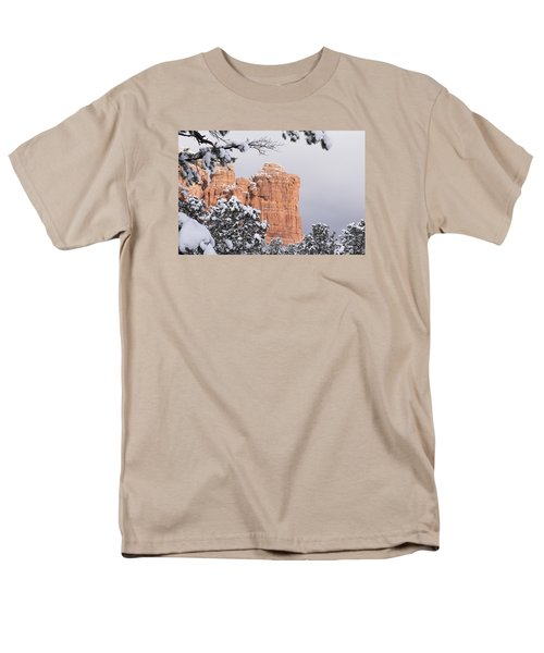 Tree Hanging Over Coffee Pot Men's T-Shirt  (Regular Fit) by Laura Pratt