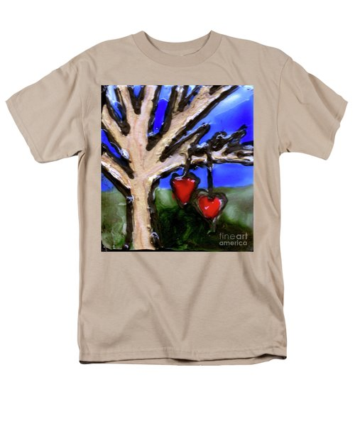 Men's T-Shirt  (Regular Fit) featuring the painting Tree Hearts by Genevieve Esson