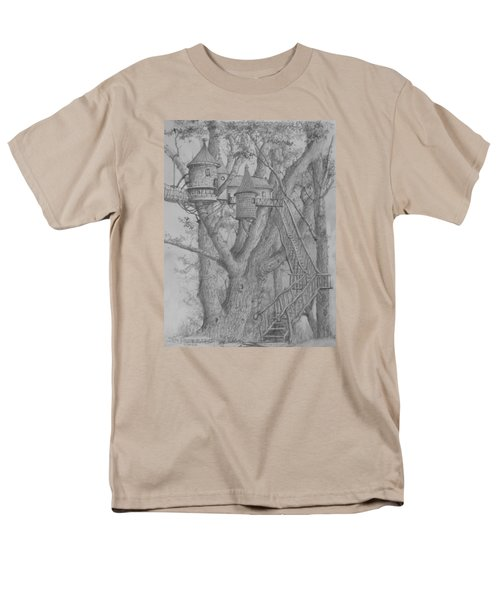 Men's T-Shirt  (Regular Fit) featuring the drawing Tree House #3 by Jim Hubbard