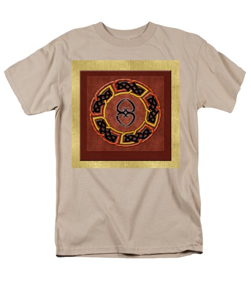 Men's T-Shirt  (Regular Fit) featuring the painting Tribal Celt Asase Ye Duru Mother Earth Symbol by Kandy Hurley