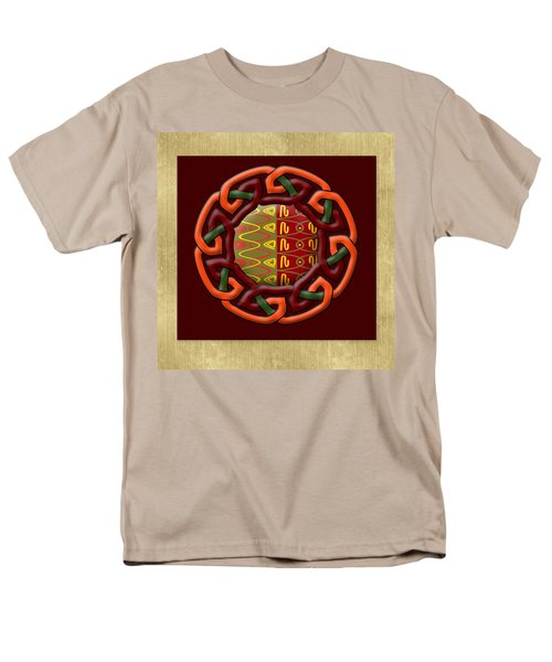 Men's T-Shirt  (Regular Fit) featuring the painting Tribal Celt Earthiness by Kandy Hurley