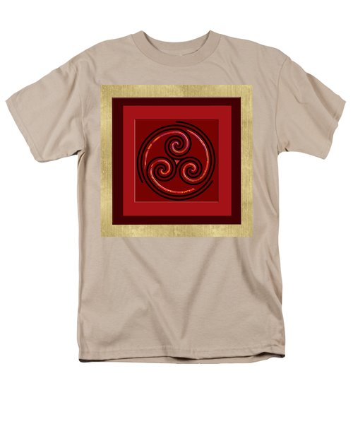Men's T-Shirt  (Regular Fit) featuring the painting Tribal Celt Triple Spiral by Kandy Hurley