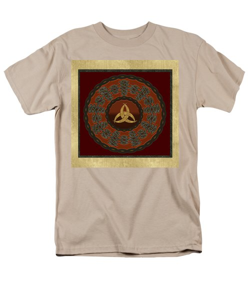 Men's T-Shirt  (Regular Fit) featuring the painting Tribal Celt Triquetra Symbol by Kandy Hurley