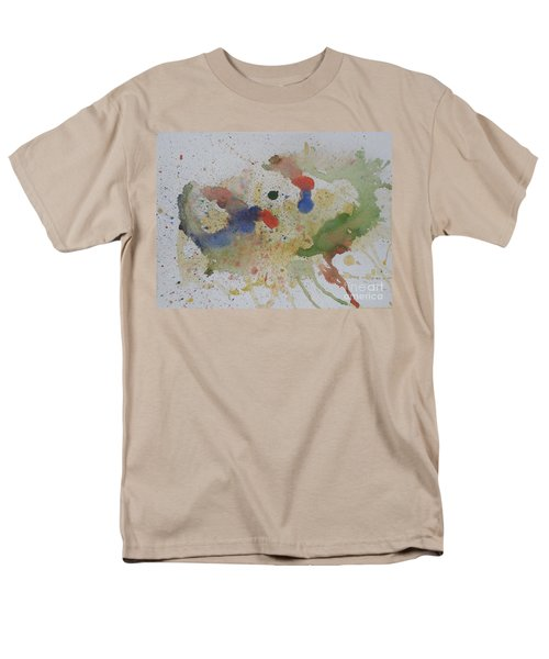 Men's T-Shirt  (Regular Fit) featuring the painting Triple Rooster Race by Vicki  Housel