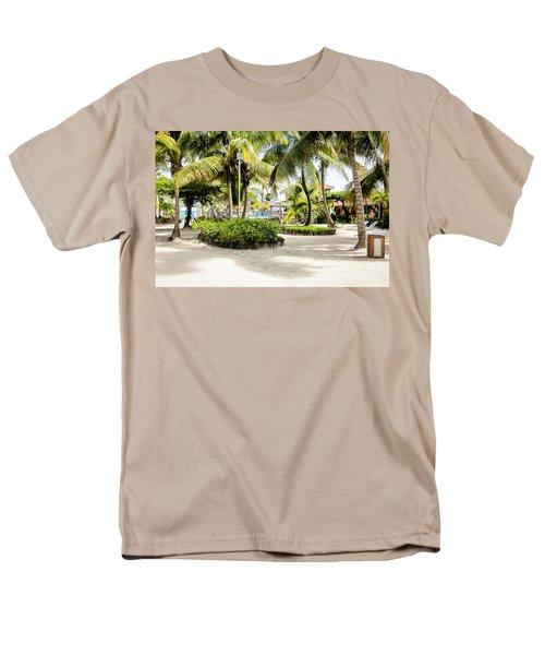 Tropical Courtyard Men's T-Shirt  (Regular Fit)
