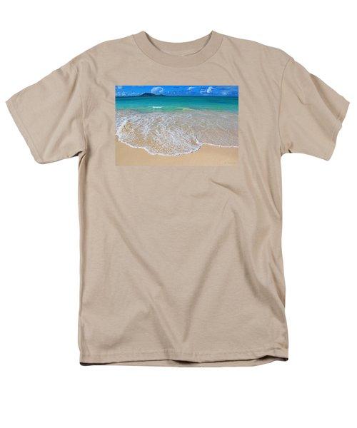 Tropical Hawaiian Shore Men's T-Shirt  (Regular Fit) by Kerri Ligatich