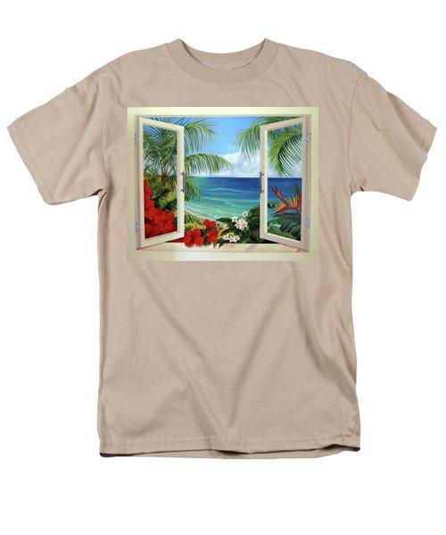 Tropical Window Men's T-Shirt  (Regular Fit) by Katia Aho