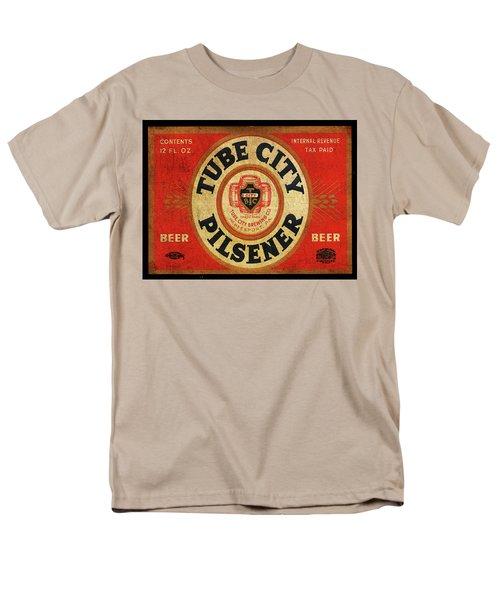 Men's T-Shirt  (Regular Fit) featuring the digital art Tube City Pilsner by Greg Sharpe