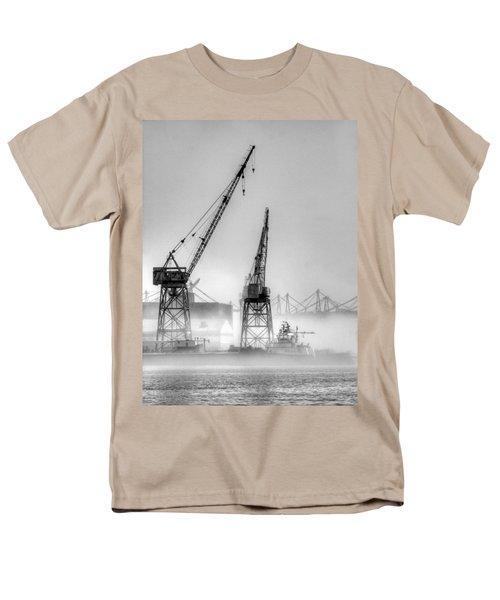 Tug With Cranes Men's T-Shirt  (Regular Fit) by Joe Schofield