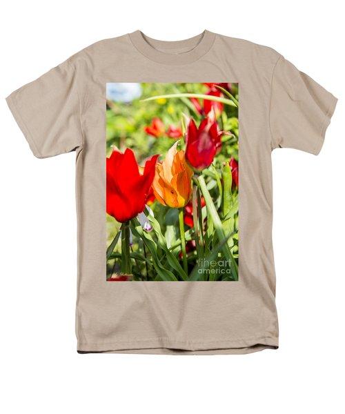 Tulip - The Orange One 02 Men's T-Shirt  (Regular Fit) by Arik Baltinester