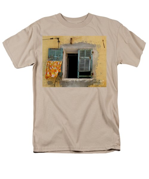 Turquoise Shuttered Window Men's T-Shirt  (Regular Fit) by Lainie Wrightson