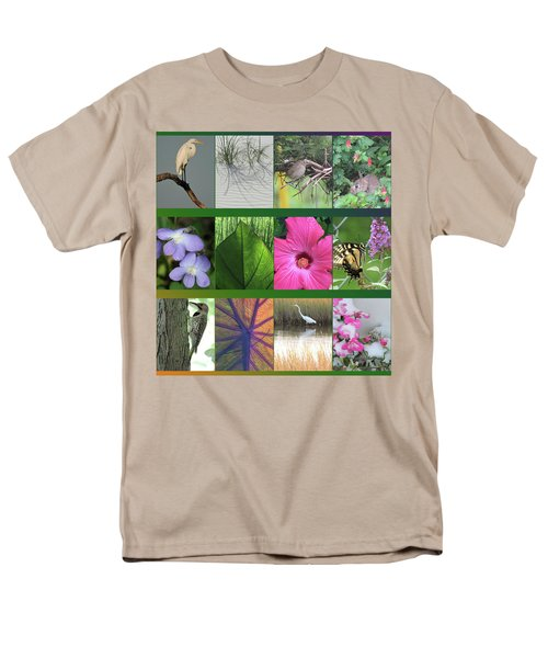 Men's T-Shirt  (Regular Fit) featuring the photograph Twelve Months Of Nature by Peg Toliver