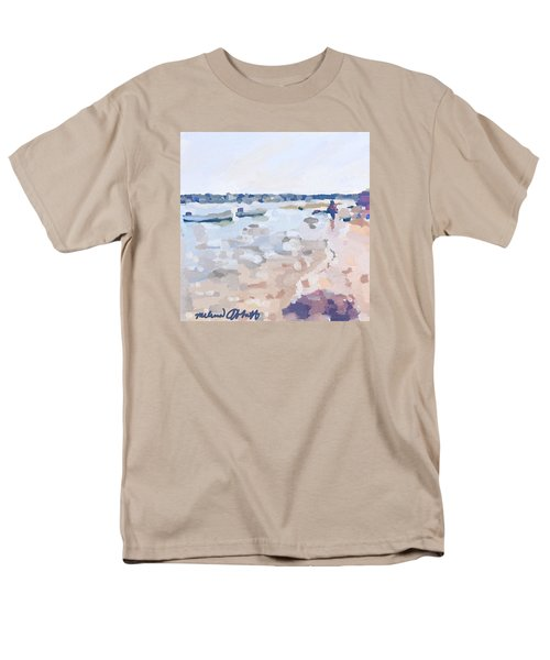 Two Boats At Ten Pound Island Beach Men's T-Shirt  (Regular Fit) by Melissa Abbott