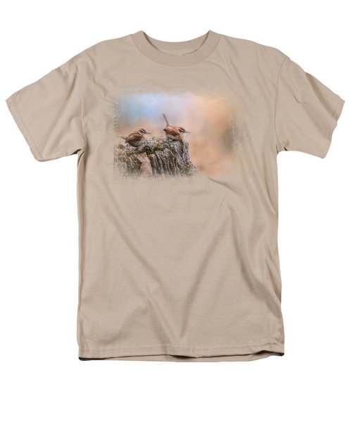 Two Little Wrens Men's T-Shirt  (Regular Fit) by Jai Johnson