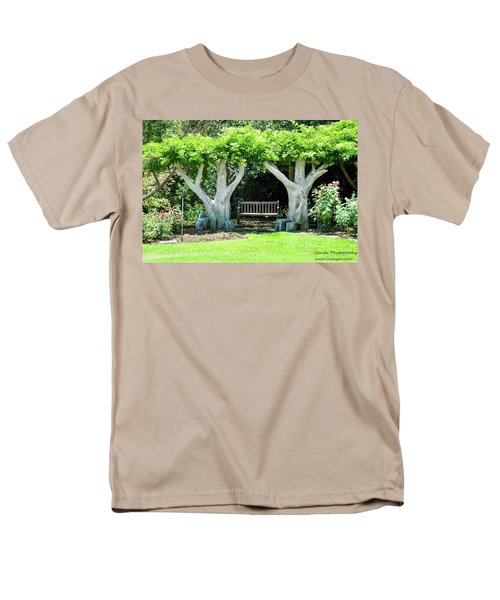 Men's T-Shirt  (Regular Fit) featuring the photograph Two Tall Trees, Paradise, Romantic Spot by Gandz Photography