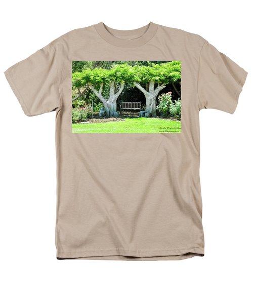 Two Tall Trees, Paradise, Romantic Spot Men's T-Shirt  (Regular Fit) by Gandz Photography