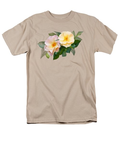 Two Wild Roses Men's T-Shirt  (Regular Fit) by Ivana Westin