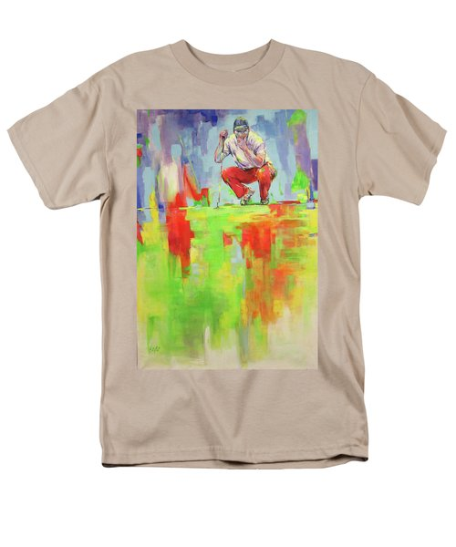 Ueberpruefe Die Luege Des Gruens   Checking The Lie Of The Green Men's T-Shirt  (Regular Fit) by Koro Arandia
