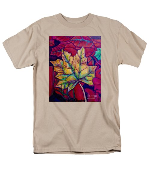 Understudy Of A Turning Maple Leaf In The Fall Men's T-Shirt  (Regular Fit) by Kimberlee Baxter