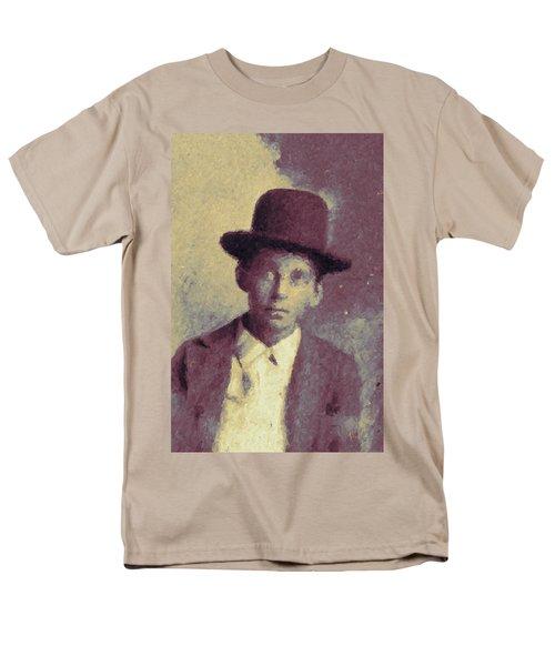 Unknown Boy In A Bowler Hat Men's T-Shirt  (Regular Fit) by Matt Lindley