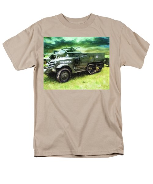 Men's T-Shirt  (Regular Fit) featuring the painting U.s. Army Halftrack by Michael Cleere