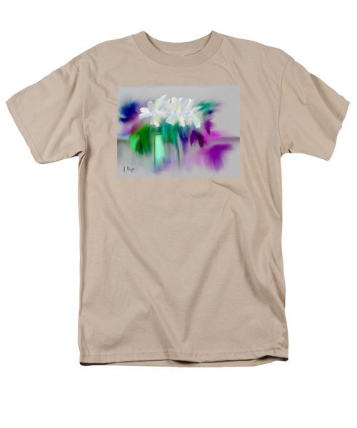 Men's T-Shirt  (Regular Fit) featuring the digital art Vase And Blooms Abstract by Frank Bright