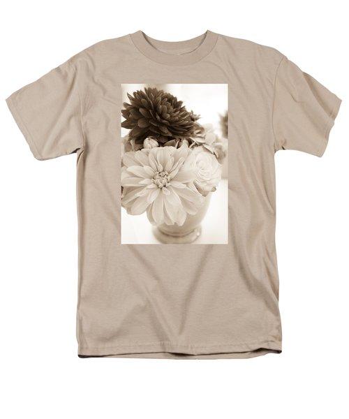 Vase Of Flowers In Sepia Men's T-Shirt  (Regular Fit) by Joni Eskridge