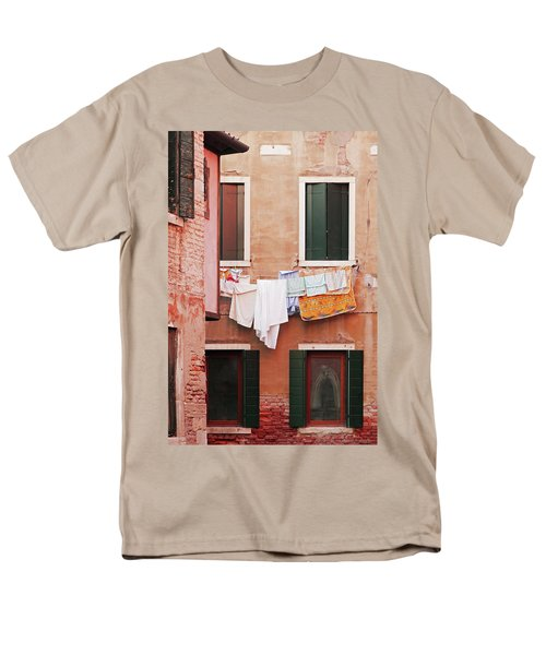 Venetian Laundry In Peach And Pink Men's T-Shirt  (Regular Fit) by Brooke T Ryan