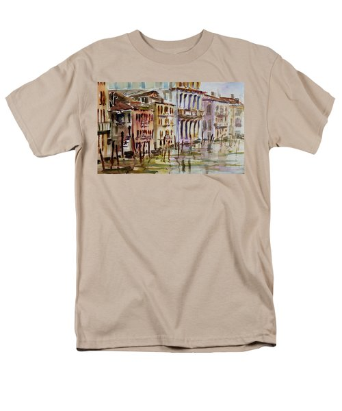 Men's T-Shirt  (Regular Fit) featuring the painting Venice Impression II by Xueling Zou