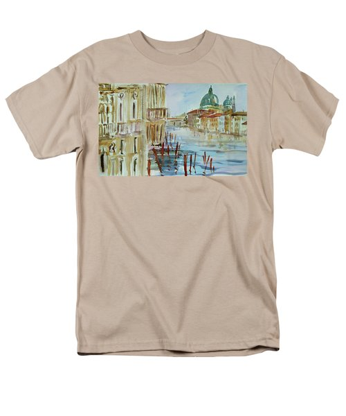 Men's T-Shirt  (Regular Fit) featuring the painting Venice Impression IIi by Xueling Zou