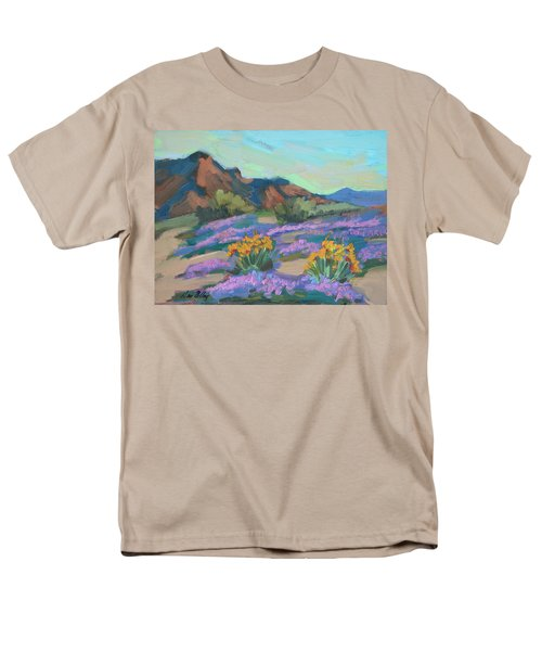 Men's T-Shirt  (Regular Fit) featuring the painting Verbena And Spring by Diane McClary