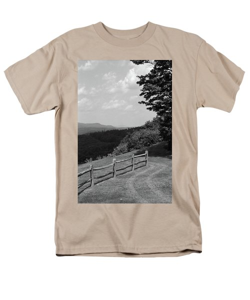 Men's T-Shirt  (Regular Fit) featuring the photograph Vermont Countryside 2006 Bw by Frank Romeo