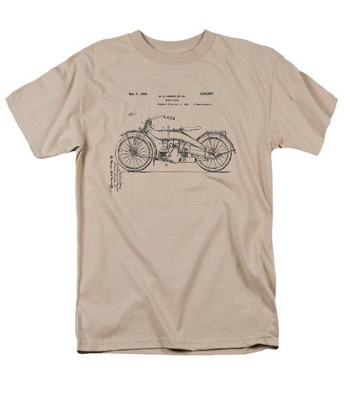 Vintage Harley-davidson Motorcycle 1924 Patent Artwork Men's T-Shirt  (Regular Fit) by Nikki Smith