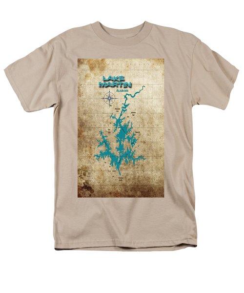 Vintage Map - Lake Martin Al Men's T-Shirt  (Regular Fit)