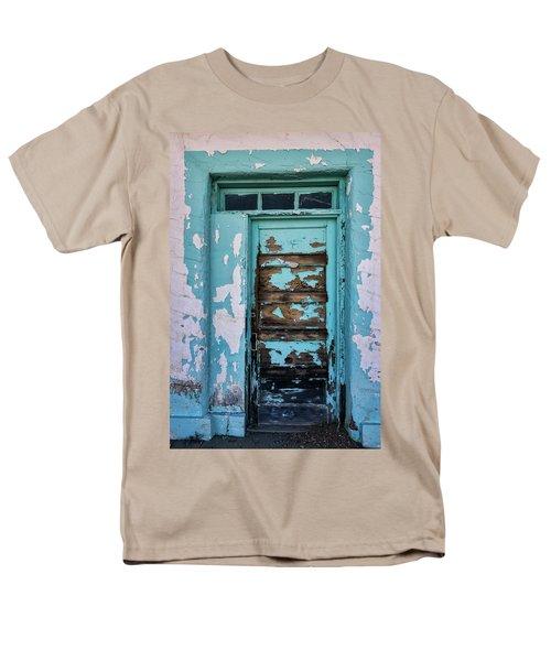 Men's T-Shirt  (Regular Fit) featuring the photograph Vintage Turquoise Door  by Saija Lehtonen