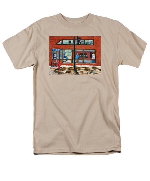 Waiting At The Metro Men's T-Shirt  (Regular Fit) by Reb Frost